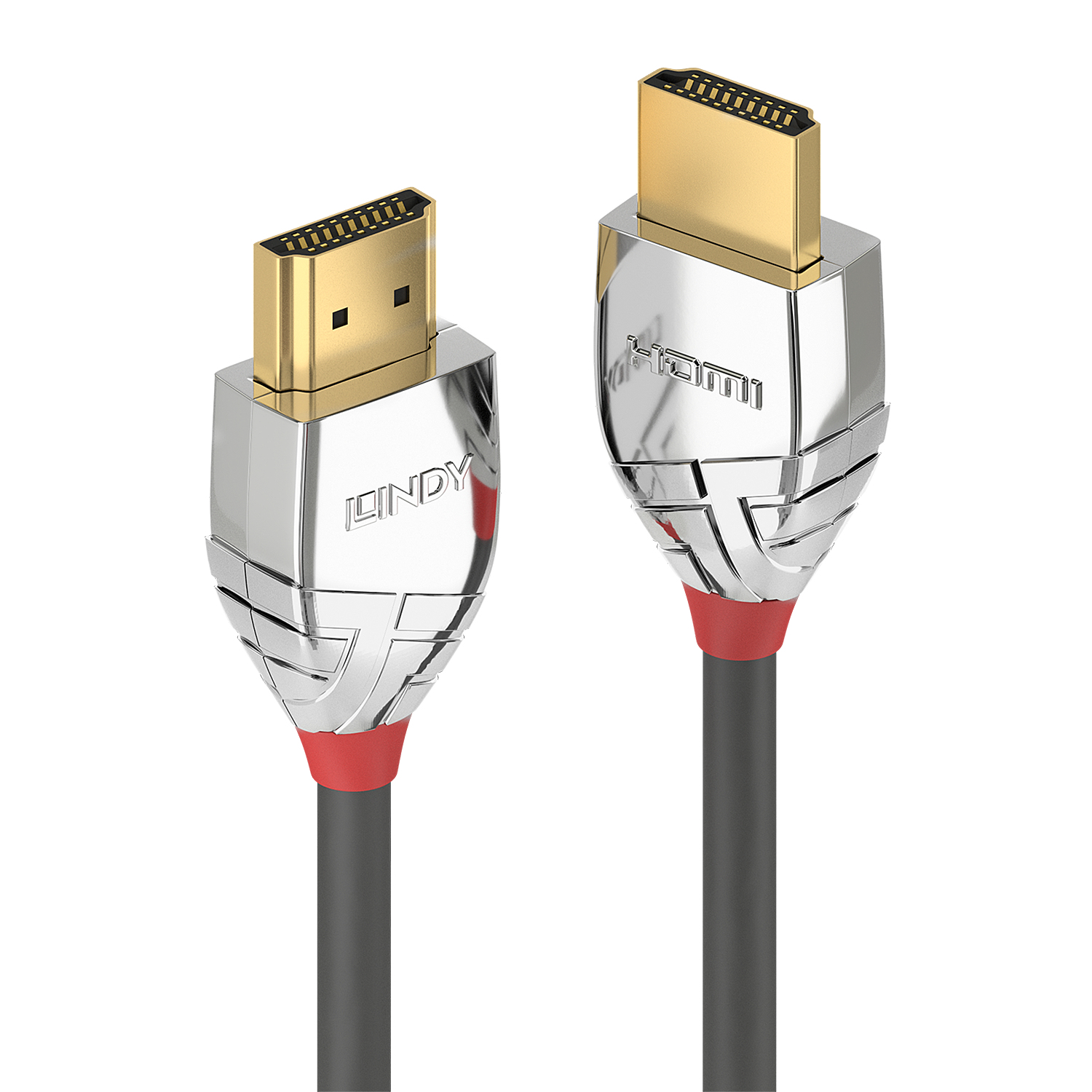 Lindy 37874 5m HDMI Type A (Standard) HDMI Type A (Standard) Grey, Silver HDMI cable