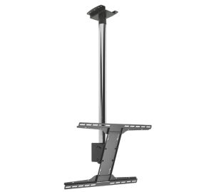 "Peerless MOD-FPSKIT100-CPF 75"" Chrome flat panel ceiling mount"
