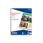 "Epson Presentation Paper Matte - 8.5"" x 11"" - 100 Sheets inkjet paper"
