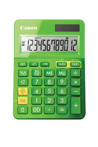 Canon LS-123k calculator Desktop Basic Green
