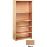 Jemini 4 Beech Shelf 2000mm Bookcase