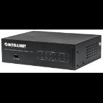 Intellinet 8-Port Gigabit Ethernet PoE+ Switch, IEEE 802.3at/af Power over Ethernet (PoE+/PoE) Compliant, 60 W, Desktop (UK 3-pin plug)