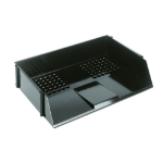 Deflecto Value Deflecto Letter Tray Wide Entry Black
