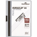 Durable Duraclip 30 report cover Light Blue,Transparent PVC