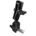 RAM Mounts Tough-Claw Small Clamp Base with Double Socket Arm