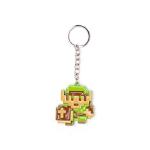 Nintendo Legend of Zelda 8-bit Link Pendant Metal Keychain, One Size, Multi-colour (KE016705ZEL)