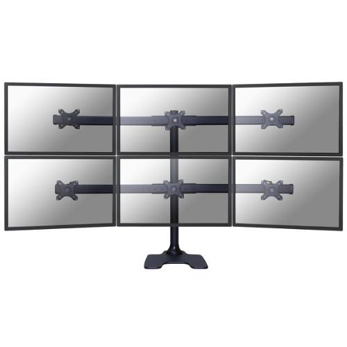 "Newstar FPMA-D700DD6 flat panel desk mount 68.6 cm (27"") Freestanding Black"