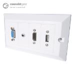 CONNEkT Gear 3m AV Snap-in Modular Cable Kit - HDMI/VGA/USB Type B/3.5mm + USB Type A