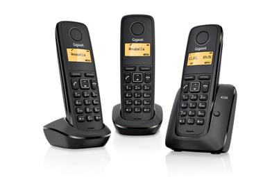 Gigaset A120 Trio DECT telephone Black Caller ID