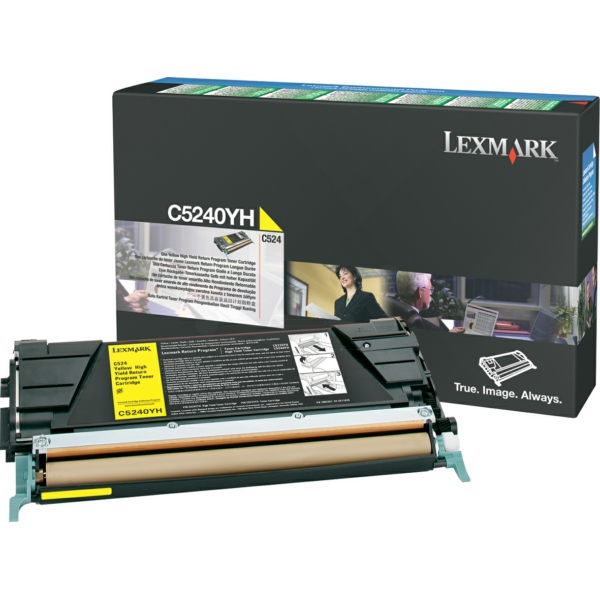 Lexmark C5240YH Toner yellow, 5K pages @ 5% coverage