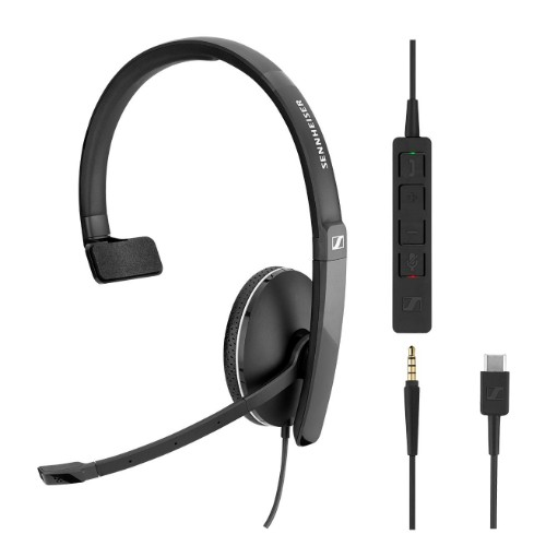 Sennheiser SC 135 USB-C Monaural Head-band Black