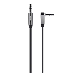 Belkin Apple Chrome Plated 3.5mm Flat Right Angle Audio Cable 0.9M - Black - by Belkin (AV10128BT03)