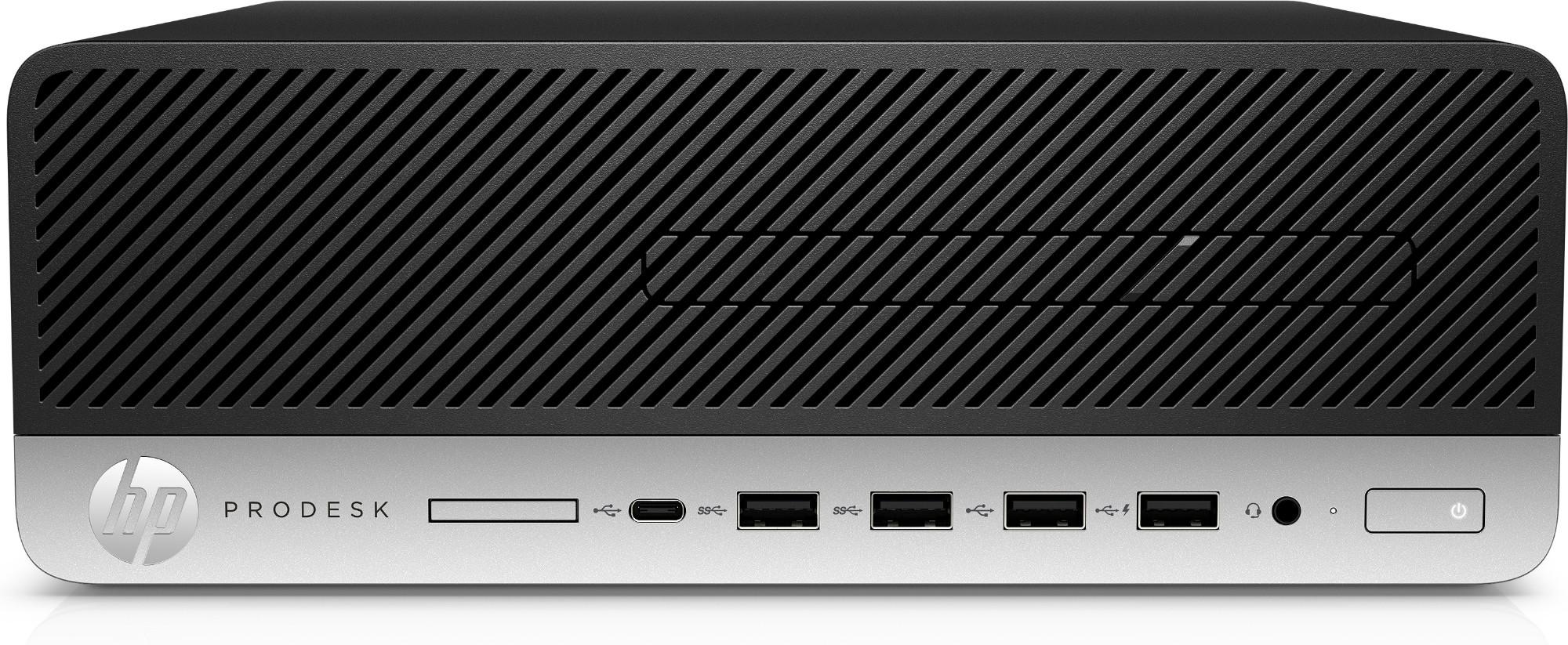 HP ProDesk 600 G5 9na generación de procesadores Intel® Core™ i5 i5-9500 8 GB DDR4-SDRAM 256 GB SSD SFF Negro, Plata PC Windows 10 Pro