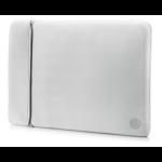 "HP 15.6"" Neoprene Reversible Sleeve notebook case 39.6 cm (15.6"") Sleeve case Black,Silver"