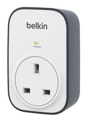 Belkin BSV102AF surge protector 1 AC outlet(s) Grey, White