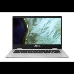 "ASUS Chromebook C423NA-BV0078 notebook Silver 35.6 cm (14"") 1366 x 768 pixels Intel® Celeron® N3350 4 GB LPDDR4-SDRAM 32 GB eMMC"