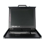 "StarTech.com 19"" Folding LCD Rack Console With 16 Port Multi-Platform KVM Black KVM switch"