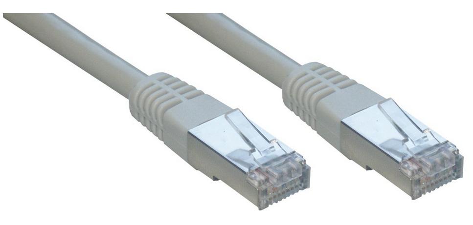 MCL FCC6BMHF-1M cable de red Cat6 F/UTP (FTP) Gris