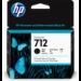 HP Cartucho de Tinta DesignJet 712 negro de 80 ml
