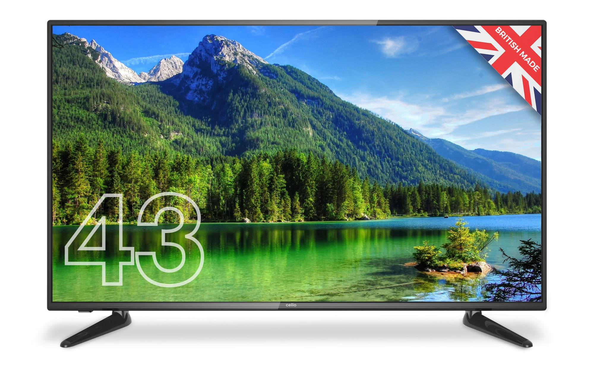 "Cello C43227T2 TV 109.2 cm (43"") Full HD Black"