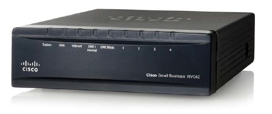 Cisco RV042 Ethernet LAN Black wired router