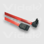 Videk Serial ATA M to M Right Angle 1m SATA cable Red