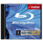 Imation BD-RE SL, 1x-2x, 25GB, Jewelcase 25GB BD-RE 1pc(s)