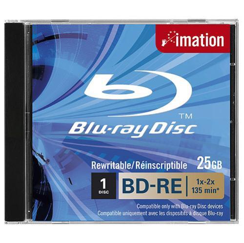 Imation BD-RE SL, 1x-2x, 25GB, Jewelcase 1 pc(s)