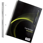 Cambridge Ruled Recycled Wirebound Notebook 100 Pages A4 (5 Pack) 400020196