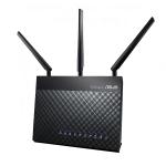 ASUS DSL-AC68U wireless router Gigabit Ethernet Dual-band (2.4 GHz / 5 GHz) 3G Black