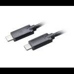 Akasa AK-CBUB26-10BK 1m USB C USB C Black USB cable