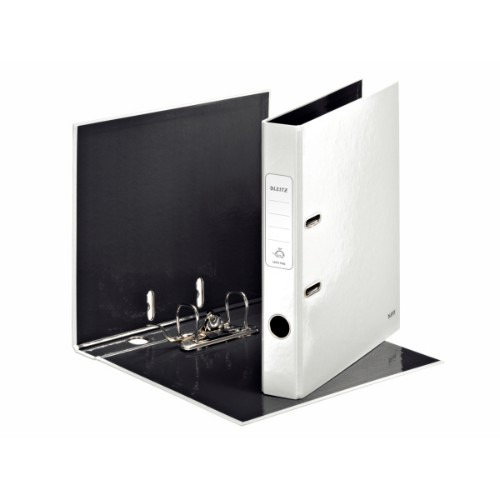 Leitz 180° WOW Lever Arch File - pearl white ring binder A4