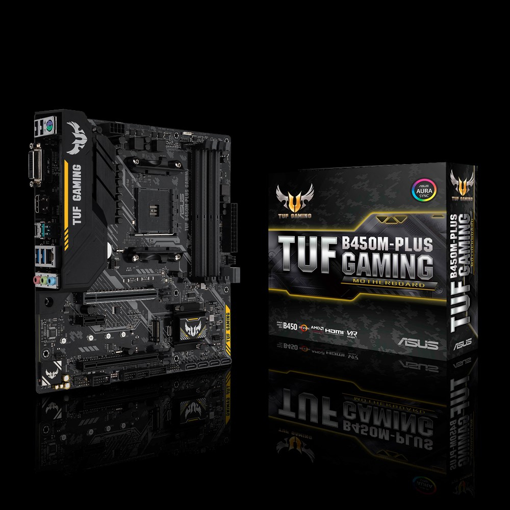ASUS TUF B450M-PLUS GAMING motherboard Socket AM4 Micro ATX AMD B450