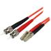 StarTech.com Cable Adaptador de Red de 2m Multimodo Dúplex Fibra Óptica LC-ST 50/125 - Patch Duplex