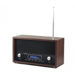 Technaxx TX-95 radio Clock Black,Brown