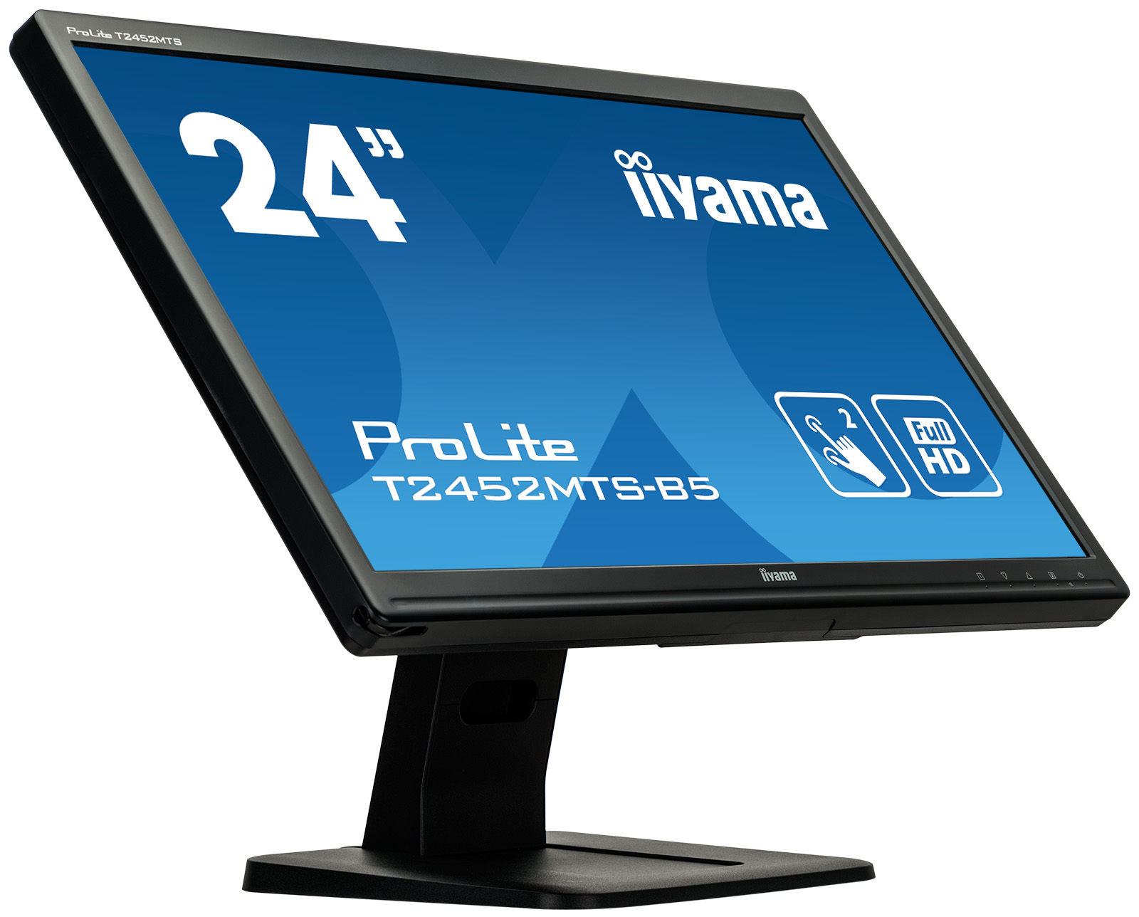 "iiyama ProLite T2452MTS-B5 23.6"" 1920 x 1080pixels Dual-touch Black touch screen monitor"