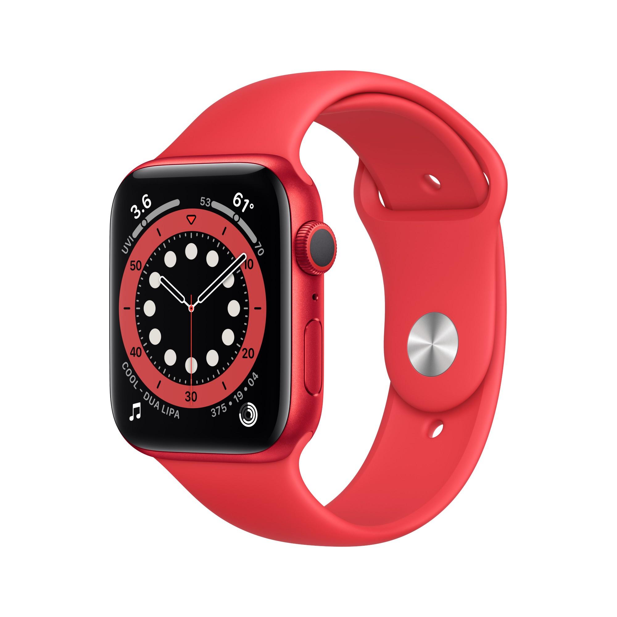Apple Watch Series 6 OLED 44 mm Rojo GPS (satélite)