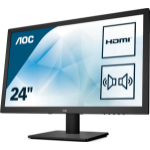 """AOC Essential-line E2475SWJ LED display 23.6"""" Full HD Flat Matt Black"""