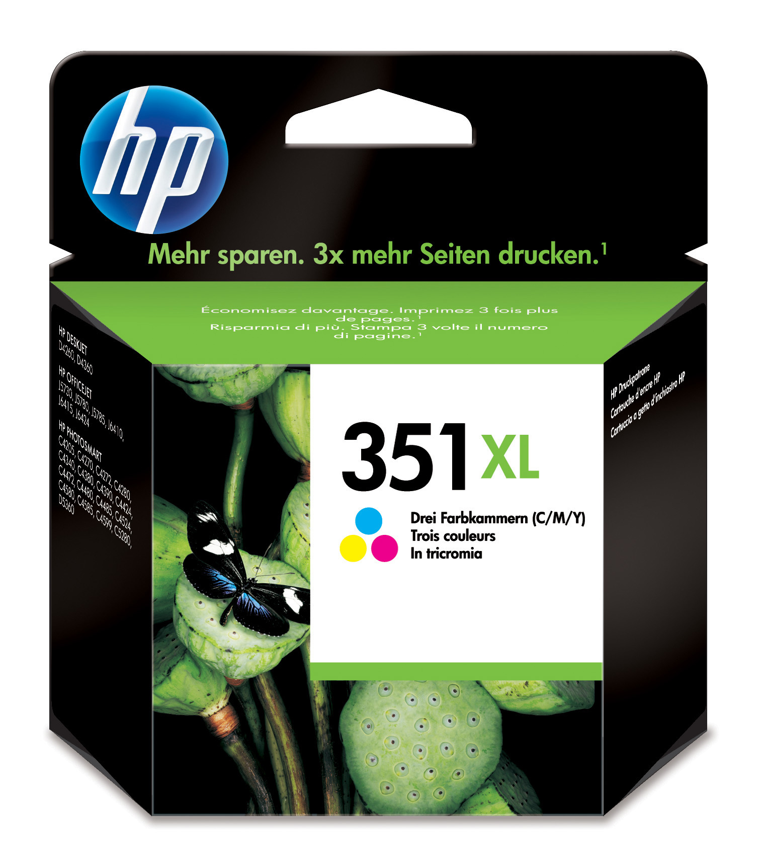 HP 351XL Origineel Cyaan, Magenta, Geel 1 stuk(s)