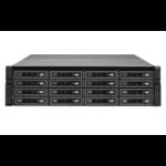 QNAP REXP-1620U-RP 160TB (16x 10TB Seagate Exos Enterprise HDD) 160000GB Rack (3U) Black, Silver disk array