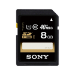 Sony 8GB SDHC UHS-I cards, reading speed up to 30MB/s