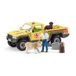 SCHLEICH Farm World Veterinarian Visit at the Farm Toy Playset, 3 to 8 Years, Multi-colour (42503)