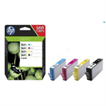 HP N9J74AE (364XL) Ink cartridge multi pack, 1x 550pg + 3x 750pg, Pack qty 4