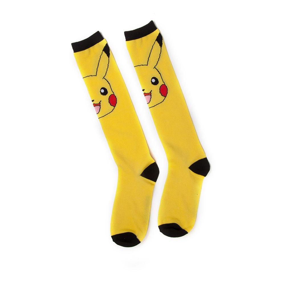 Pokémon Woman's Pikachu Knee High Socks, One Size, Yellow/Black (KH021005POK)