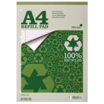 Silvine Everyday Recycled A4 Refill Pad Feint Ruled PK6
