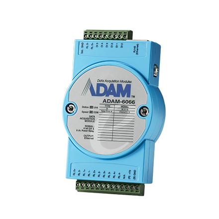 Advantech ADAM-6066-D digital/analogue I/O module Digital & Analog Relay channel