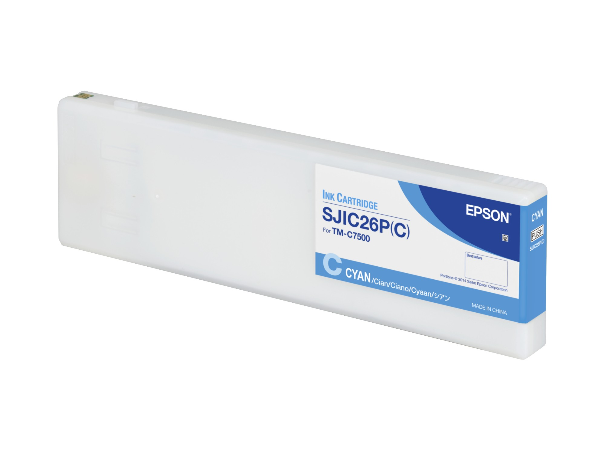 Epson SJIC26P(C): Ink cartridge for ColorWorks C7500 (Cyan)