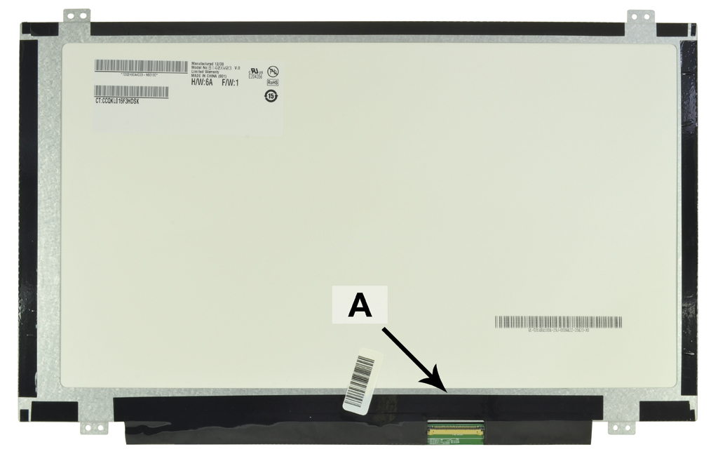 2-Power 14.0 WXGA HD 1366x768 LED Glossy Screen - replaces 613667-001