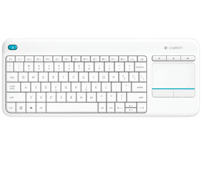 Logitech K400 Plus teclado RF inalámbrico QWERTY Blanco
