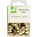Q-CONNECT Q CONNECT DRAWING PINS SOLID HEAD PK120